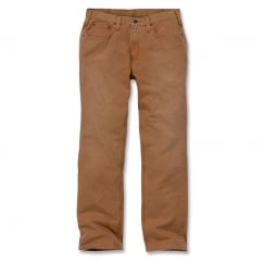 100096 Weathered Duck 5 Pocket Pant Carhartt Brown - Inside Leg: 30