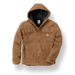 102285 Sandstone Barlett Jacket Carhartt Brown S *One Size Only - Outlet Store*