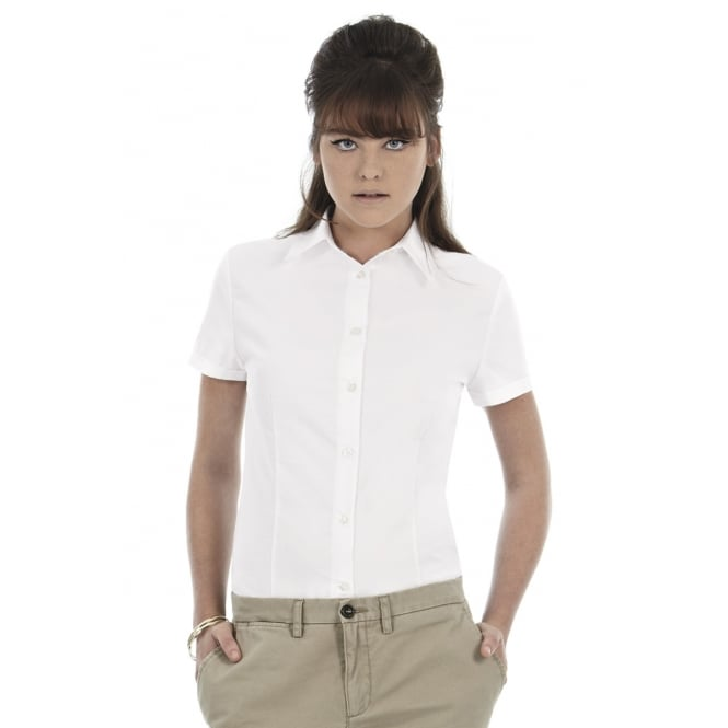 B&C SWO04 Ladies' Oxford Short Sleeve Shirt