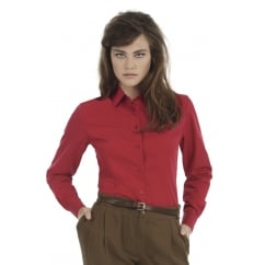B&C SWP63 Ladies' Smart Long Sleeve Poplin Shirt