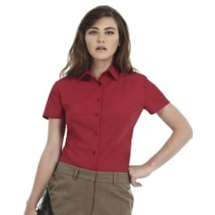 B&C SWP64 Ladies' Smart Short Sleeve Poplin Shirt
