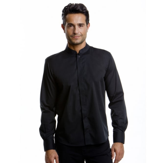 Bargear KK123 Men's Long Sleeved Mandarin Collar Bar Shirt
