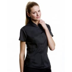 Bargear KK736 Ladies' Short Sleeved Mandarin Collar Bar Shirt