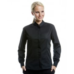 Bargear KK740 Ladies' Long Sleeved Mandarin Collar Bar Shirt