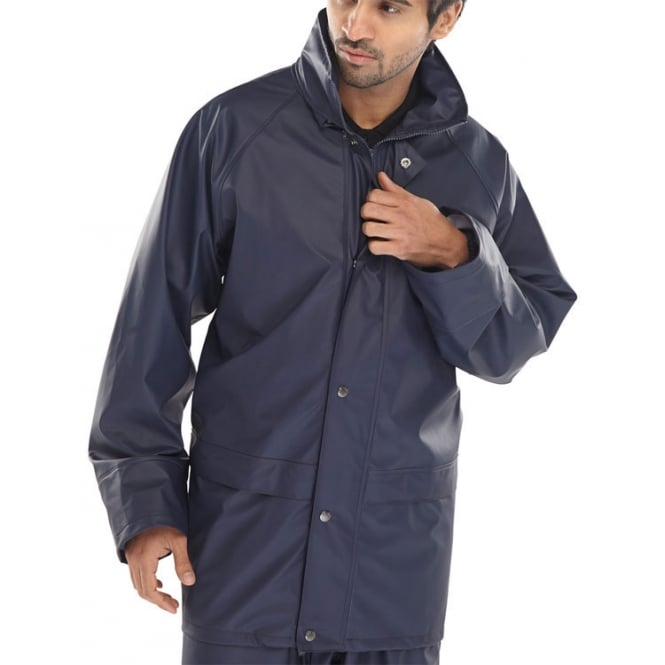 Bdri Weatherproof Brecon Transfer Coated Jacket Navy Blue