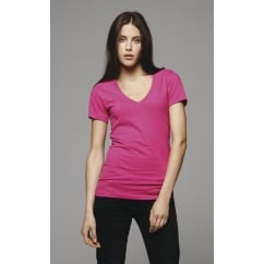 Bella BE6035 Deep V-Neck Jersey T-Shirt