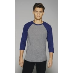Bella CA3200 Canvas 3/4 Sleeve Baseball T-Shirt
