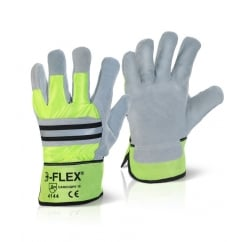 Rigger Glove Canadian High Qual High Viz Pack 10