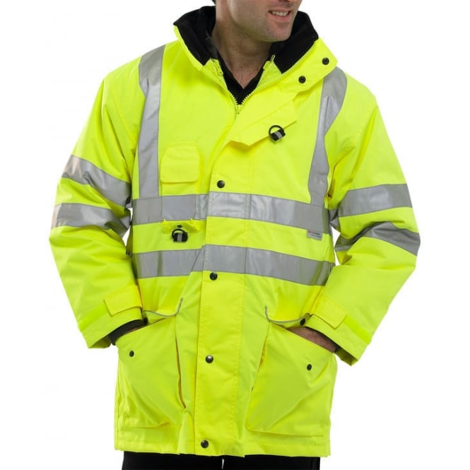 BSeen Elsener Hi Visibility Waterproof 7 In 1 Jacket Yellow