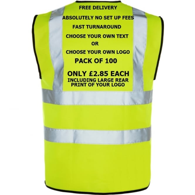 BSeen Hi-Vis Vest Multi Bundle Pack 100