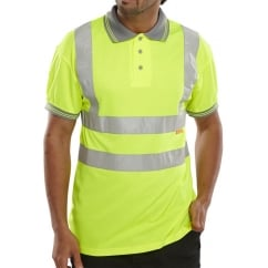Hi Visibility Breathable Polo Shirt Yellow