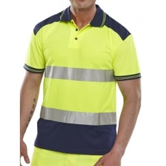 Hi Visibility Breathable Two Tone Polo Shirt