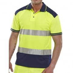 Hi Visibility Breathable Two Tone Polo Shirt Size: M *One Size Only - Outlet Store*