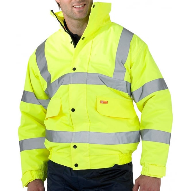 BSeen Hi Visibility Constructor Bomber Jacket