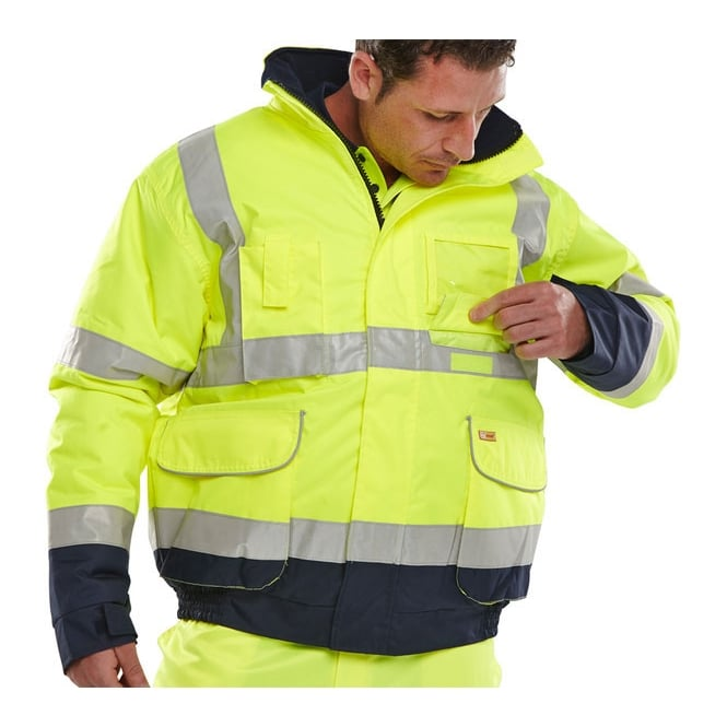 BSeen Hi Visibility Waterproof Breathable Bomber Jacket