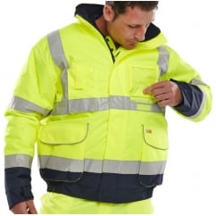Hi Visibility Waterproof Breathable Bomber Jacket