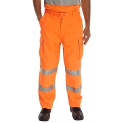 Rail Spec Hi Visibility Teflon Coated Trousers