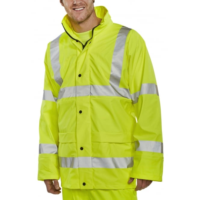 BSeen Super Hi Visibility Waterproof Breathable Jacket