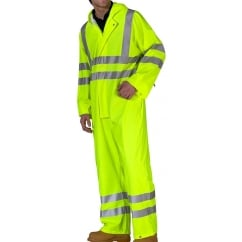 Super Waterproof Breathable Coverall Hi Visibility