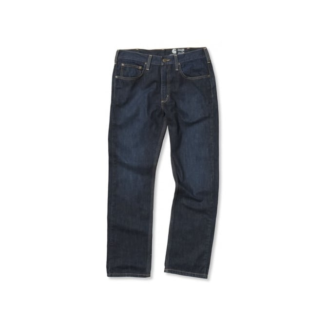Carhartt 100067 Straight Fit Jeans Weathered Indigo - Inside Leg: 34