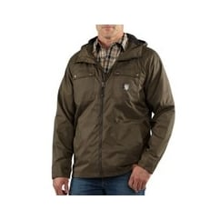 100247 Rockford Draw-Cord Hood Mens Leisure Zip Jacket Top Breen Size: L *One Size Only - Outlet Store*