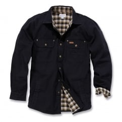 100590 Weathered Canvas Shirt Jacket Black - Size: XL *One Size Only - Outlet Store*