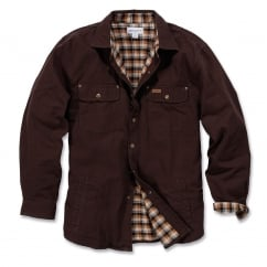 100590 Weathered Canvas Shirt Jacket Dark Brown - Size: XL *One Size Only - Outlet Store*