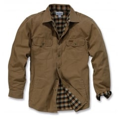 100590 Weathered Canvas Shirt Jacket Frontier Brown - Size: XL *One Size Only - Outlet Store*