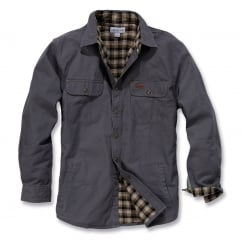 100590 Weathered Canvas Shirt Jacket Gravel - Size: M *One Size Only - Outlet Store*