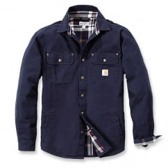 100590 Weathered Canvas Shirt Jacket Navy - Size: 2XL *One Size Only - Outlet Store*