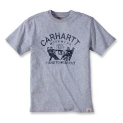 102097 Hard To Wear Out Graphic T-Shirt S/S Heather Grey - Size: L *One Size Only - Outlet Store*