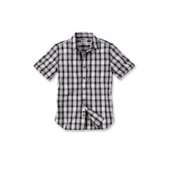 102100 Slim Fit Plaid Shirt S/S