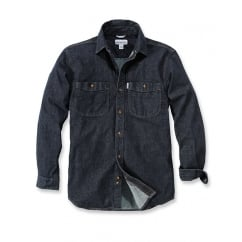 102257 L/S Rugged Flex Patten Denim Shirt Rotary Rinse L *One Size Only - Outlet Store*