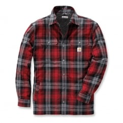 102333 Hubbard Shirt Jacket Dark Crimson M *One Size Only - Outlet Store*
