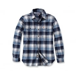 102888 L/S Trumbull Slim Fit Flannel Shirt Steel Blue 2XL *One Size Only - Outlet Store*