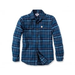 102888 L/S Trumbull Slim Fit Flannel Shirt Stream Blue L *One Size Only - Outlet Store*