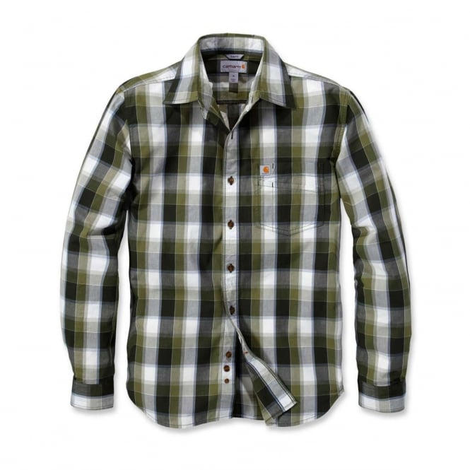 Carhartt 103190 Slim Fit Plaid Shirt Long Sleeve