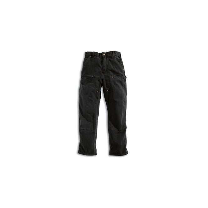 Carhartt EB136 Double Front Work Pant, Black, Inside Leg: 34