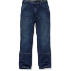 EB227 Double Front Logger Jeans Rinsed Indigo Waist: 32
