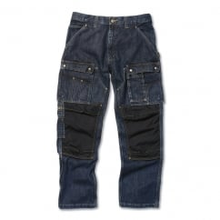 Eb229 Denim Multi Pocket Tech Pant Rinsed Indigo - Inside Leg: 32