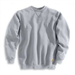 K124 Midweight Crewneck Sweatshirt Heather Grey - Size: L *One Size Only - Outlet Store*