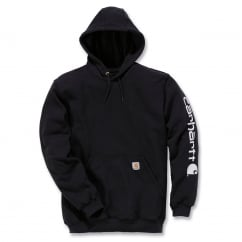 K288 Sleeve Logo Hooded Sweatshirt Black - Size: M *One Size Only - Outlet Store*