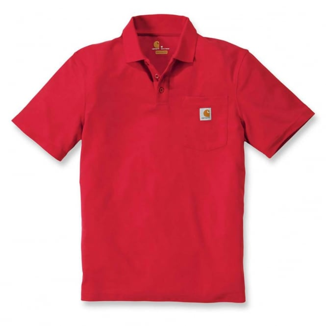 Carhartt K570 Work Pocket Polo S/S Red - Size: M *One Size Only - Outlet Store*