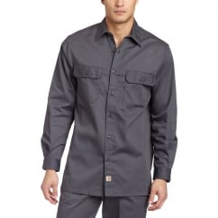 S224 Twill Work Shirt L/S Dark Grey - Size: M *One Size Only - Outlet Store*