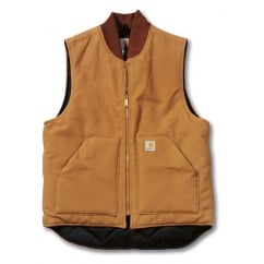 V01 Leisure Quilted Mens Zip Arctic Vest Jacket Top