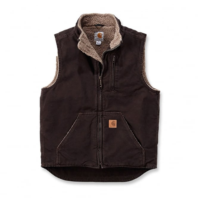 Carhartt V33 Sandstone Mock Neck Vest Dark Brown	- Size: XL *One Size Only - Outlet Store*