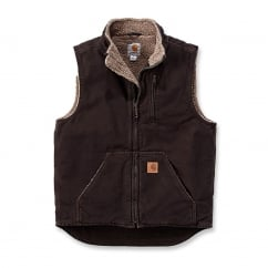 V33 Sandstone Mock Neck Vest Dark Brown	- Size: XL *One Size Only - Outlet Store*