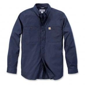 83dcb93128 Carhartt Workwear 102257 Long Sleeve Rugged Flex Patten Denim Shirt ...