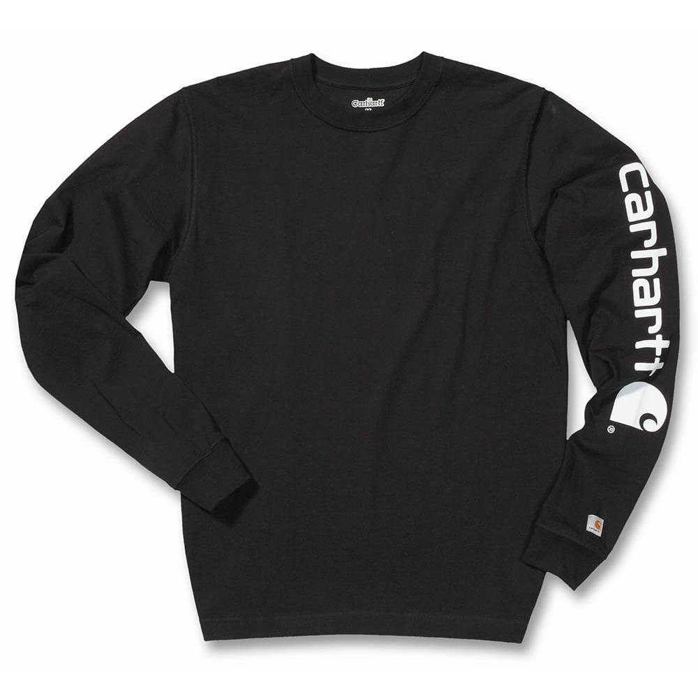 db2a2e05b Carhartt Workwear Ek231 Sleeve Logo Long Sleeve T-Shirt - Clothing ...
