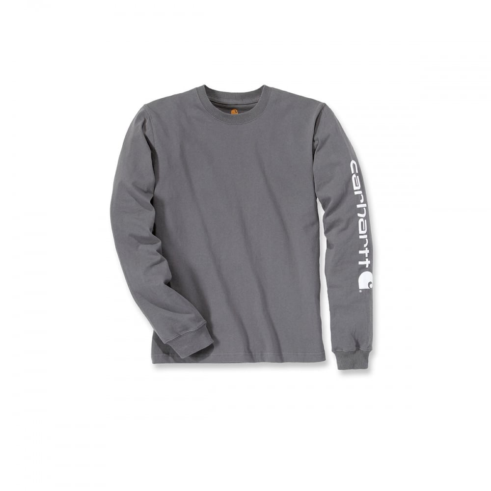 96791189d420 Carhartt Workwear Ek231 Sleeve Logo Long Sleeve T-Shirt - Clothing ...
